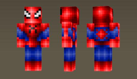 скин spiderman skin для майнкрафт