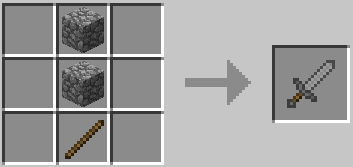 Как скрафтить меч в Minecraft