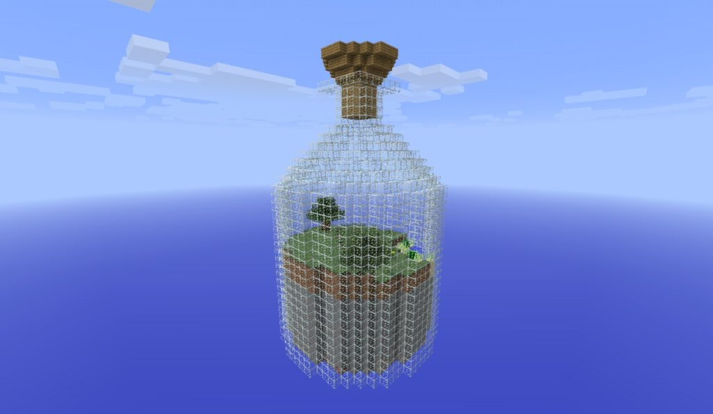 Скачать карту World in a Jar для Minecraft