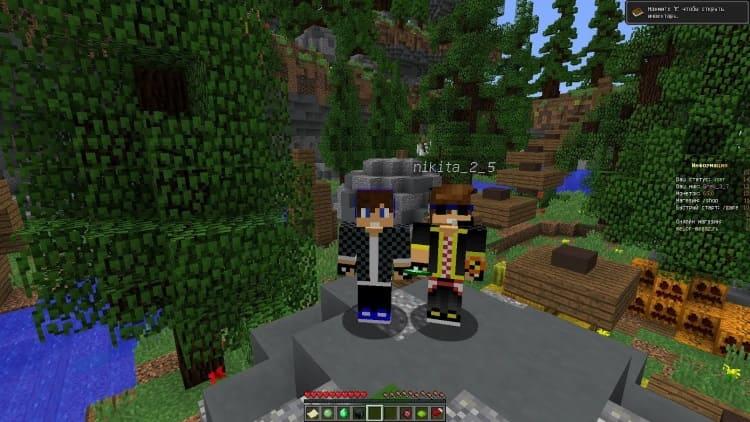 игра с другом в Minecraft