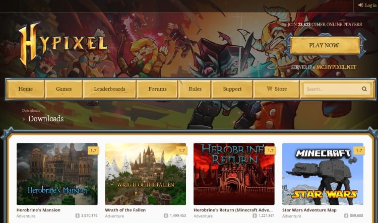 сайт сервера Хайпиксель