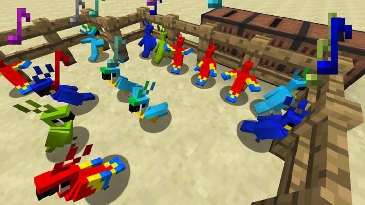 попугаи в Minecraft 1.12